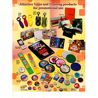 Voice and LED promotional products